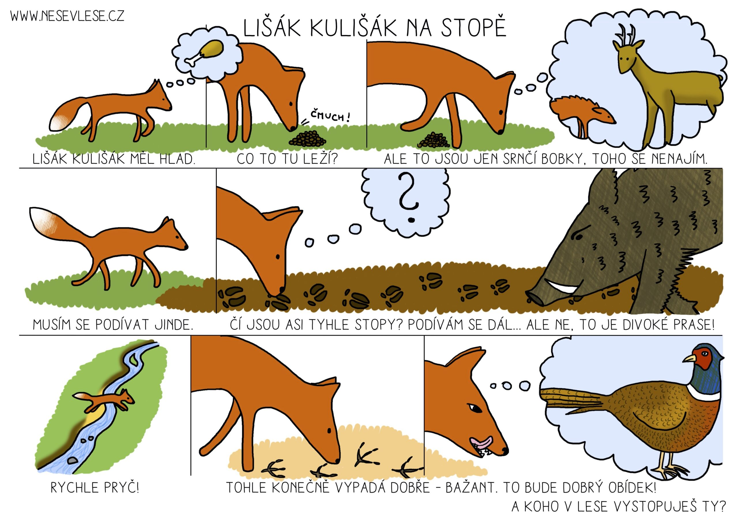 Přečti si příběh lišáka Kulišáka